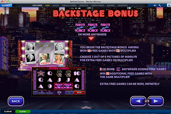 Play Marilyn Monroe Online Slots at Casino.com UK
