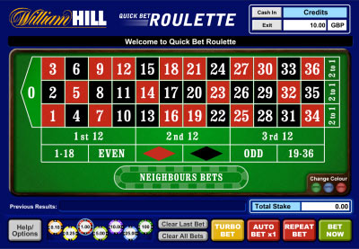 William hill demo play roulette poker table rentals las vegas