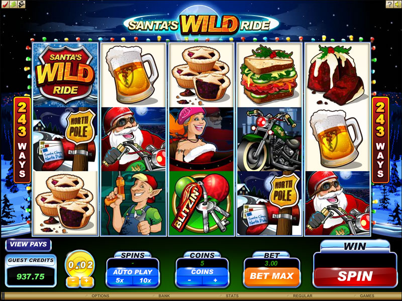 Santas Wild Ride online slot | Euro Palace Casino Blog