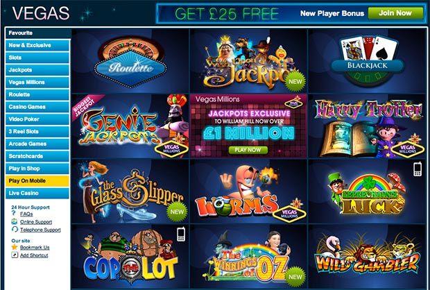 william hill vegas games