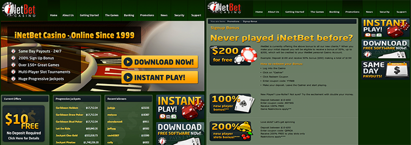 inetbet casino no deposit codes