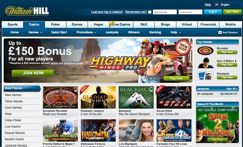 william hill casino club официальный сайт